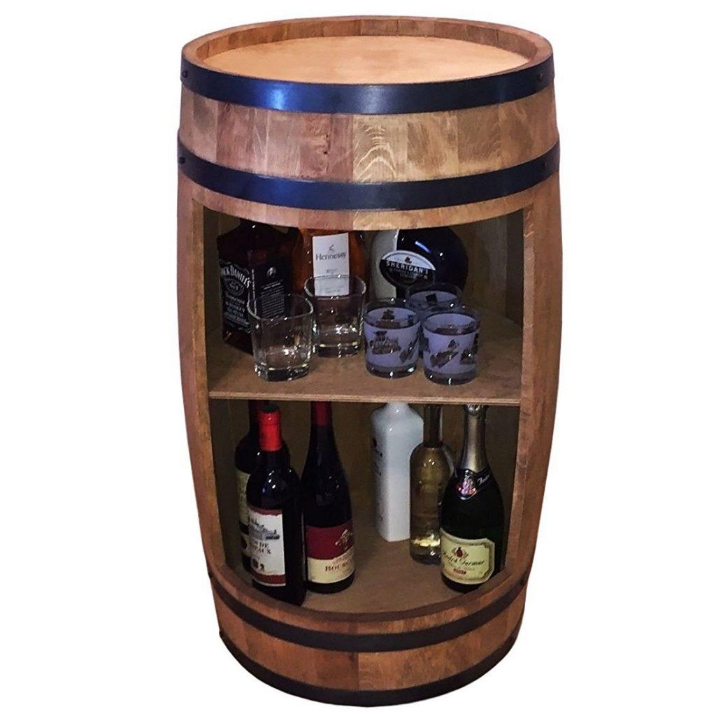 Stilvolle Minibar Fassbar Holz Exklusive Fass Bar