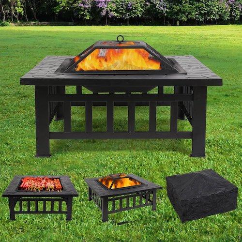 Feuerstelle mit Grillrost Fire Pit Garten Terrasse