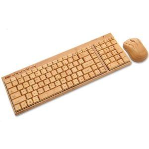 Bambus Tastatur holzgeschenk