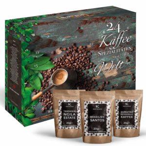 24 Kaffee Spezialitäten Weihnachtskalender