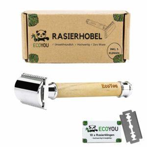 EcoYou® Olivenholz Rasierhobel plastikfreie geschenke