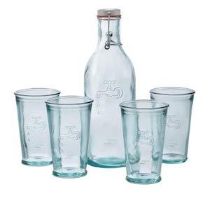 Wasserglas set aus Recycling-Glas nachhaltiges geschenk